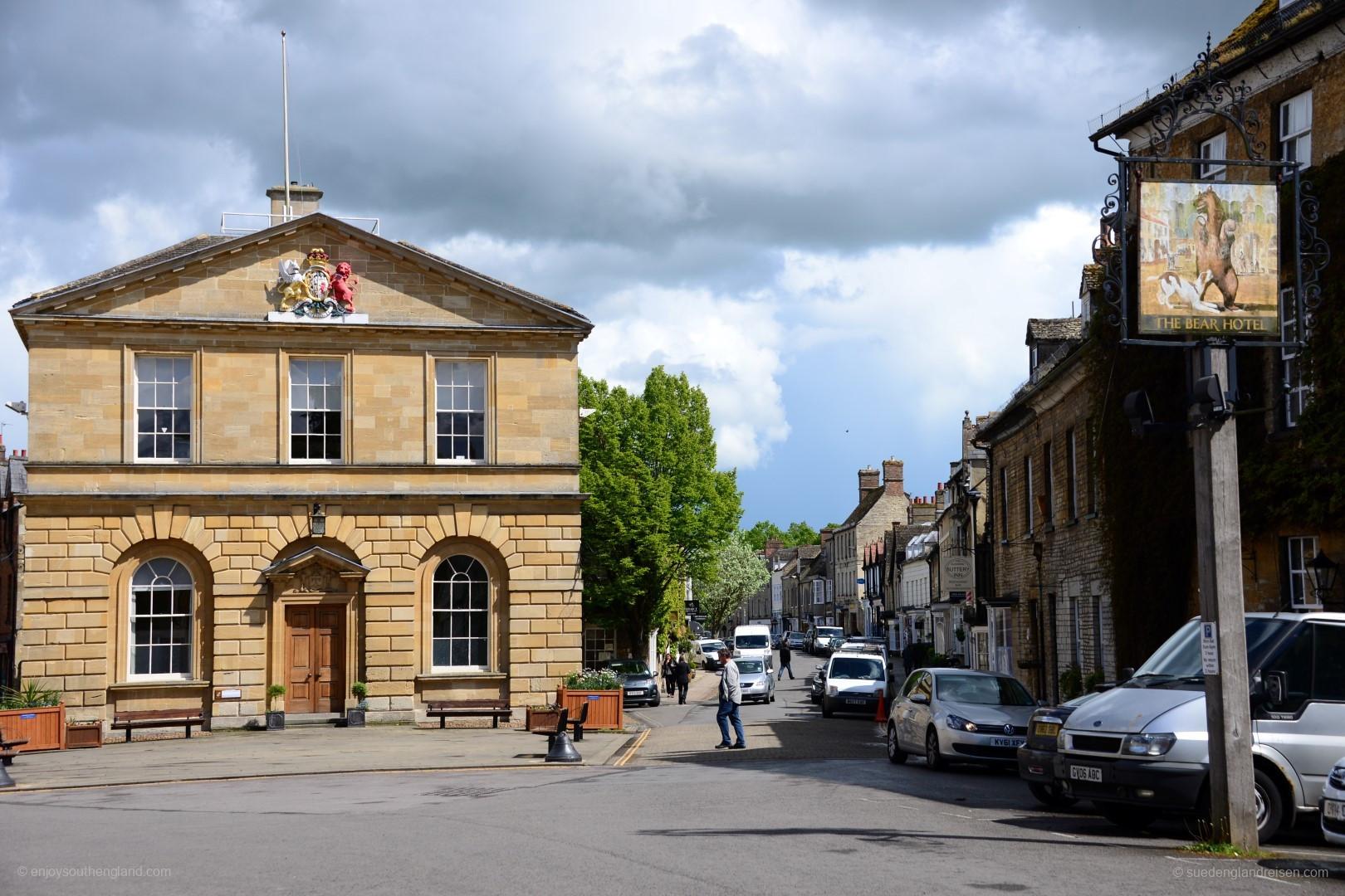 Woodstock, eine liebe Kleinstadt in Oxfordshire