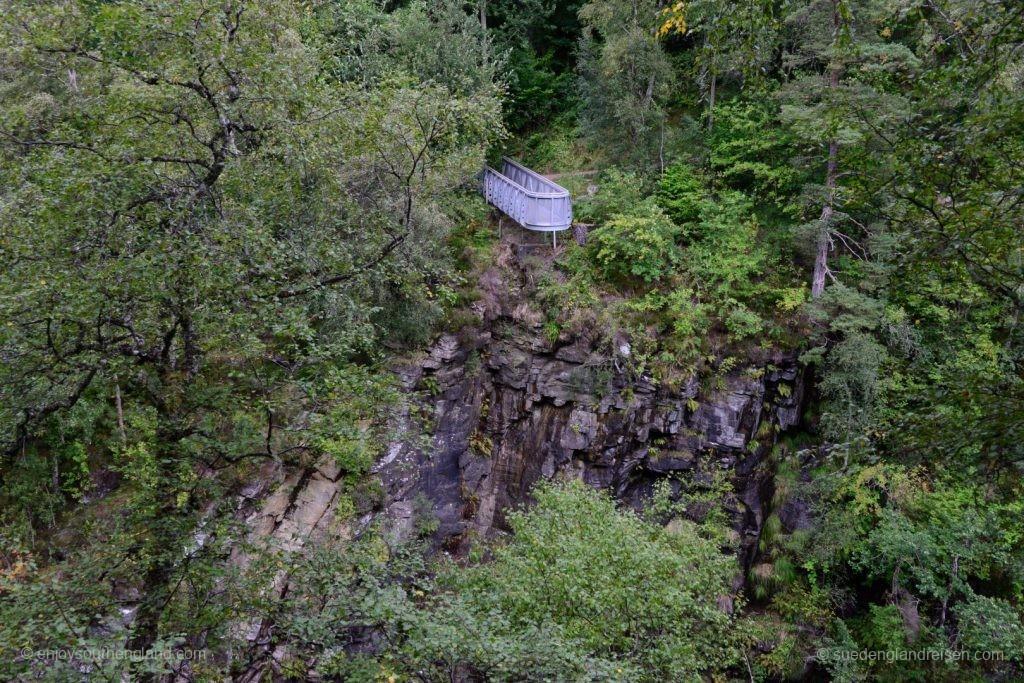Blick in die Corrieshalloch Gorge