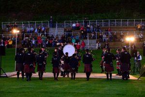 Die Zuschauermassen des Highland Evenings halten sich jedoch in Grenzen.