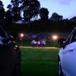 Ungewöhnliche Perspektive eines Highland Evenings