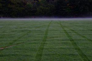 Der Sportplatz von Pitlochry - morgen wird hier scon wieder Fußball gespielt.