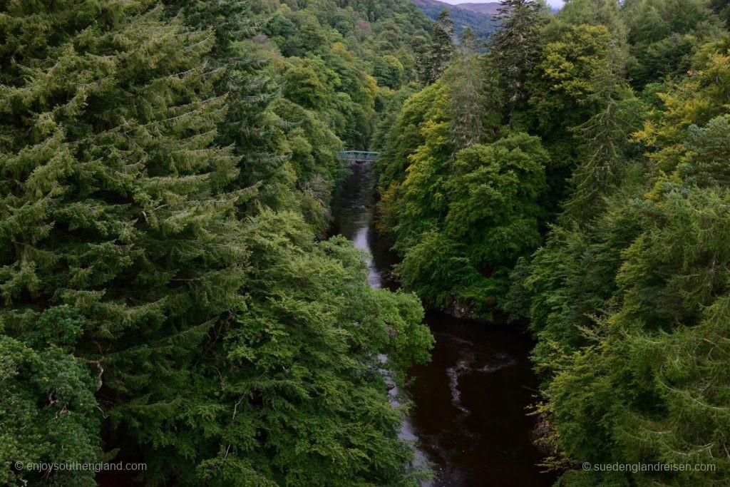Linn of Tummel Bridge - eine beeindruckende Schlucht