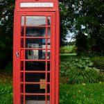 Typisch britisch: Telefonzelle in Moulin