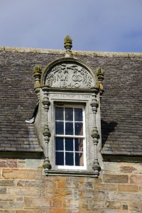 Dachdetail von Castle Menzies