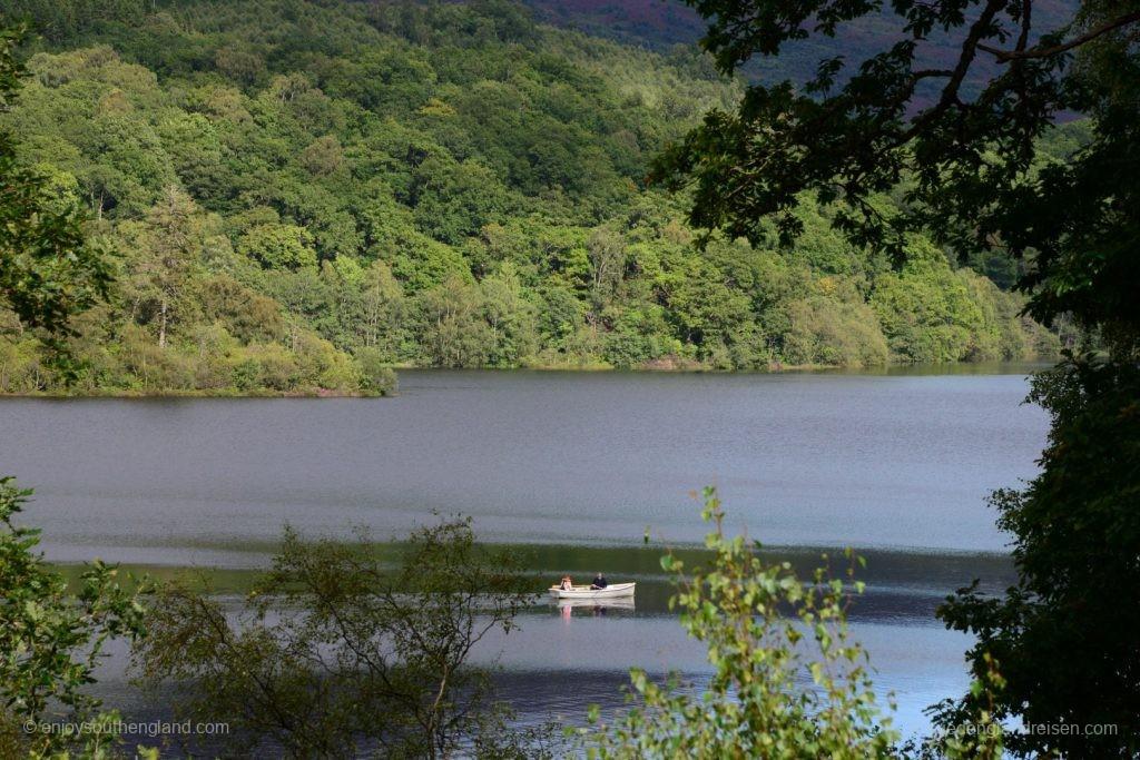 Noch sind die Berghänge tiefbewaldet bis hinunter an die Seen. Nur: Wie lange noch?
