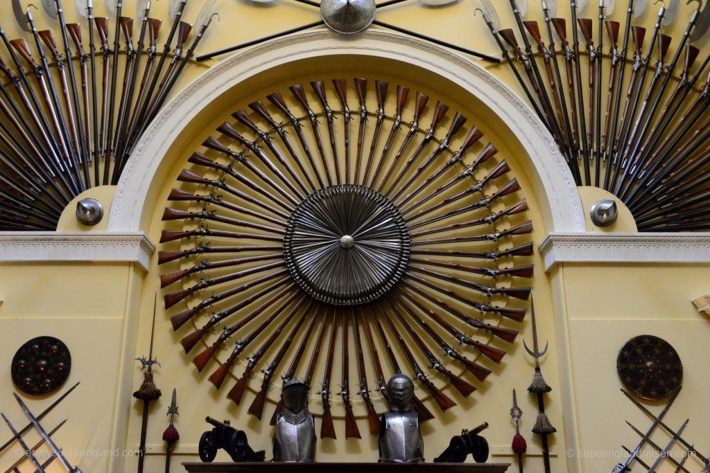 Beeindruckende Sammlung von Waffen im Inveraray Castle