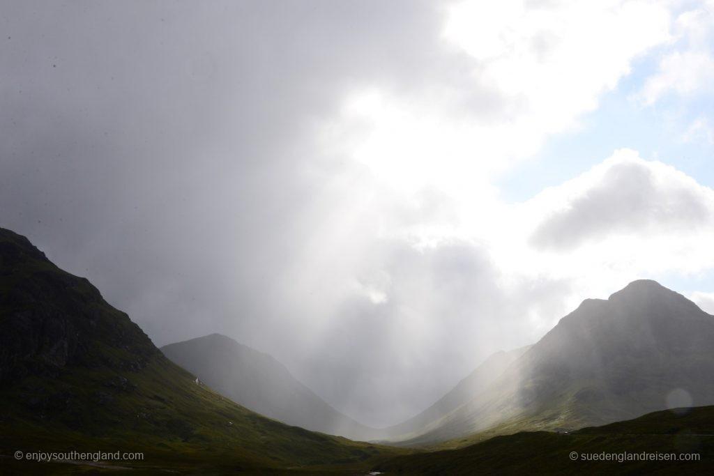 Die Wetterstimmung im Glencoe wechselt eigentlich jede Minute.