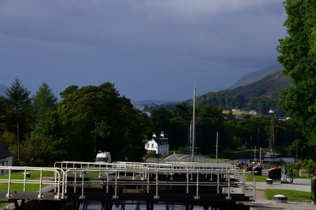 Neptune's Staircase bei Fort William - eine Schleusentreppe des Caledonian Canal