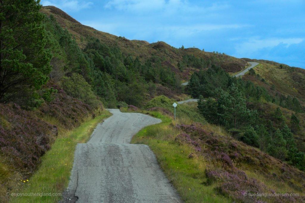 Die unglaublich spannende Straße nach Kylerhea auf der Isle of Skye