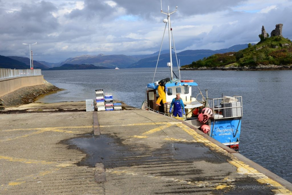 """Kyleakin hat noch immer eine kleine aktive Fischerei - hier kommt der """"catch of the day"""""""