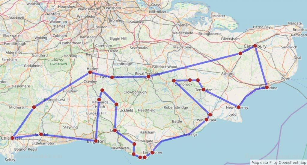Tour durch den Osten von Südengland