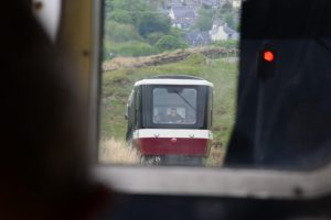 Snowdon Mountain Railway - Zugbegegnung