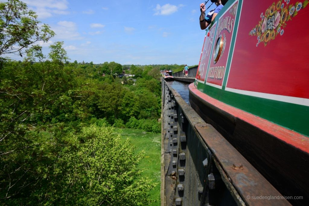Bootsfahrt auf dem Pontcycyllte Aqueduct