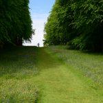 im Garten von Chirk Castle