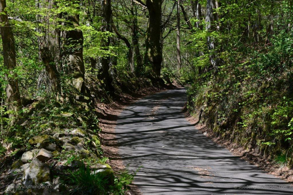 Schmale Straßen auf dem Weg nach Blaenafon