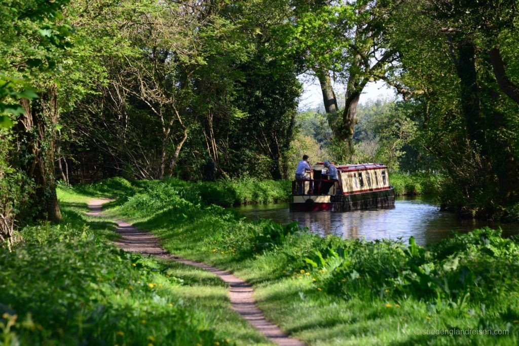 Narrowboat am Weg nach Blaenavon