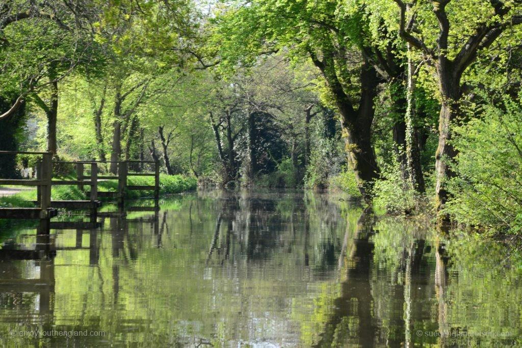 idyllische Stimmung auf dem Brecon Kanal
