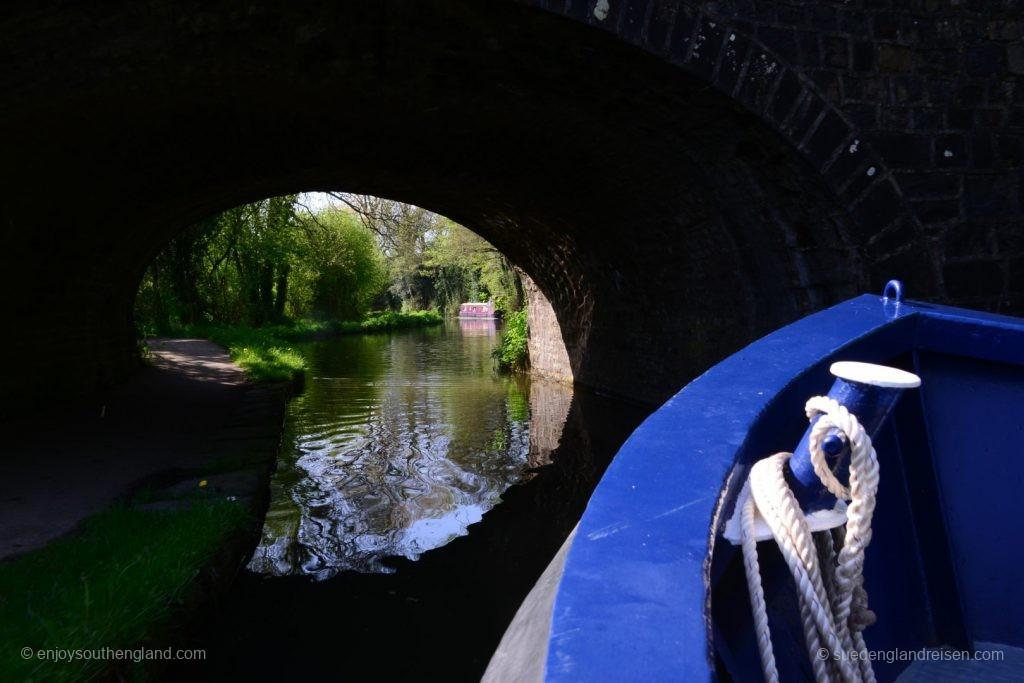 Kleine Bootsfahrt auf dem Kanal mit Ben