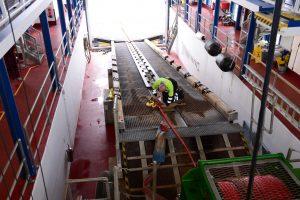 Tenby - die Life Boat Station von innen