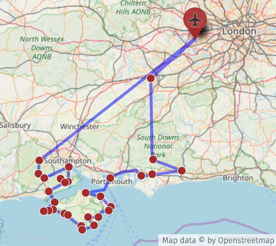 Tour auf die Isle of Wight und durch den New Forest in Südengland