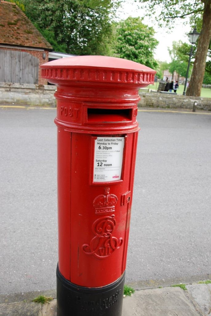 Pillar Box mit Emblem Edward VII