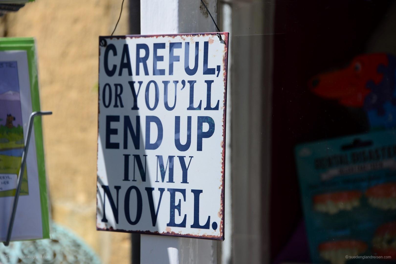 Sei vorsichtig, sonst endest Du als Figur in meinem Roman